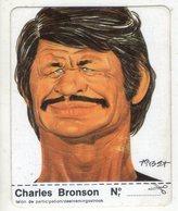 AUTOCOLLANT . STICKER . 1974 . CHARLES  BRONSON  .  CARICATURE . CLARK . - Autocollants