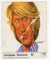 AUTOCOLLANT . STICKER . 1974 . JACQUES  DUTRONC   .  CARICATURE . CLARK . - Autocollants