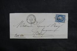 FRANCE - Lettre De Verdun / Saône En 1871 Pour Nolay , Affranchissement Type Bordeaux - L 36165 - 1849-1876: Période Classique