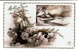 CPA - Carte Postale Belgique-Meilleurs Vœux De Nouvel An- Paysage Enneigé  1937-M4897 - Nouvel An