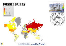 DZ Algeria 1727/8 FDC Fossil Fuels Energy Energy Gas Reserves - Gas