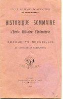 HISTORIQUE ECOLE MILITAIRE INFANTERIE  AVORD SAINT MAIXENT 1872 1924 - Zeitungen & Zeitschriften