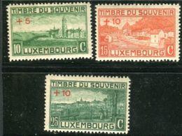 LUXEMBOURG ( POSTE ) :  Y&T  N°  137/139  TIMBRES  NEUFS  AVEC  TRACE  DE  CHARNIERE . - Neufs