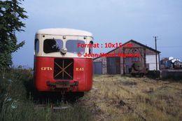 Reproduction D'une Photographie D'un Train CFTA M.43 Du Chemin De Fer De La Baie De Somme à L'arrêt En 1972 - Repro's