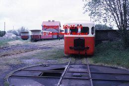 Reproduction D'une Photographie D'une Vue D'un Train à L'arrêt En Gare En Baie De Somme En 1972 - Repro's