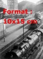 Reproduction D'une Photographie Ancienne De Trains Et Locomotives à Vapeur à La Gare St-Lazare à Paris En 1930 - Repro's