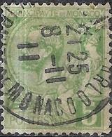 MONACO 1891 Prince Albert - 5c - Green FU - Monaco