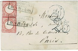 1872, Straßburg, Doppel-Frankatur! , A2005 - Briefe U. Dokumente