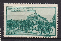 Timbre Erinophilie  Chasseurs Cyclistes Pendant La Guerre - Military Heritage