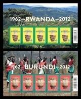 Belgium 2012 Mih. 4286/87 Independence Of Rwanda And Burundi (2 M/S) MNH ** - Neufs