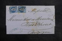 FRANCE - Lettre De Marseille Pour La Belgique En 1864, Affranchissement Napoléons - L 36183 - 1849-1876: Période Classique