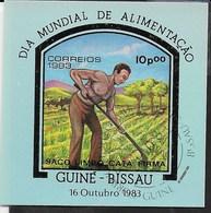 GUINEA BISSAU - GIORNATA DELL'ALIMENTAZIONE 1983 - FOGLIETTO USATO ( YVERT BL 45 - MICHEL BL 256) - Protezione Dell'Ambiente & Clima
