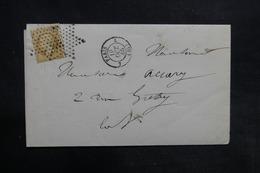 FRANCE - Lettre De Paris Pour Paris En 1865, Affranchissement Napoléon, Oblitération étoile - L 36184 - 1849-1876: Période Classique