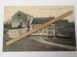 GENAPPE  Nº6 «LA FABRIQUE BOUFFIOUX ,ANCIEN MOULIN DU CHÂTEAU DE LOTHIER»Panorama(1910)Édit M.Marcovici - Genappe