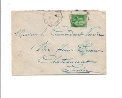 AMBULANT DE BORDEAUX A SAINT SULPICE LAURIERE 1939 - Postmark Collection (Covers)