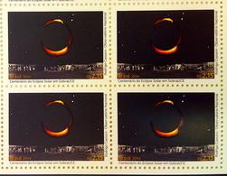 Brazil C 3820 Selo Eclipse Solar Sobral Lua Sol 2019 Moon Sun Block Of 4 - Ungebraucht