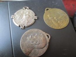 3 MEDAILLONS 14-18- GLOIRE AU SERBES- JOURNEE DES ORPHELINS- JUSQU'AU BOUT - 1914-18