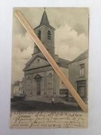 GENAPPE «L'EGLISE»panorama,animée (1906)Édit Dohet,Genappe. - Genappe