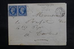 FRANCE - Lettre De  Rabastens-de-Bigorre Pour Tarbes En 1861,  Affranchissement Napoléons PC 2618 - L 36189 - 1849-1876: Période Classique