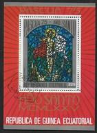 GUINEA EQUATORIALE  - PASQUA 1975 - FOGLIETTO USATO ( YVERT BL 157 - MICHEL BL 157) - Guinea Equatoriale