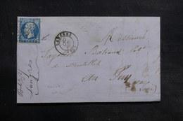 FRANCE - Lettre De Langres Pour Le Puy En 1860,  Affranchissement Napoléon Avec Variété - L 36192 - 1849-1876: Période Classique