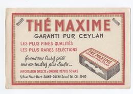 BUVARD -  THE MAXIME PUR CEYLAN     --- Z900 - Café & Thé