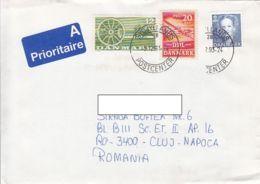 FARM, MILL, PLANE, QUEEN MARGRETHE, STAMPS ON COVER, 1993, DENMARK - Danimarca
