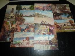 """ENSEMBLE DE 15 CARTES DESSINEES; SERIE """" OILETTE, Collection: Villes De France"""" + Divers - THEMATIQUE (AE) - Postcards"""