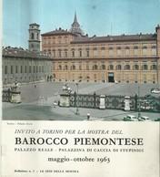 """4820""""INVITO A TORINO PER LA MOSTRA DEL BAROCCO PIEMONTESE-MAGGIO/OTTOBRE 1963"""" 16 PAG.+ COPERTINE-ORIG - Art, Design, Décoration"""