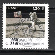 France 2019.Premier Pas De L'homme Sur La Lune.Cachet Rond.Gomme D'Origine. - Usati