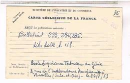 75 PARIS 6°   Carte Geologique  62 Bd St Michel 1953 - Arrondissement: 06