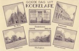 KOEKELARE:1958: De Kerk / Marktplaats / Dorpstraat / Lekestraat / Ichtegemstraat. Gelopen Postkaart / Carte Voyagée - Koekelare
