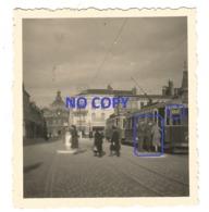 WW2  PHOTO ORIGINALE Soldat Allemand Monte Dans TRAMWAY Pour LILLE Place Du Marché à  TOURCOING 59 NORD - 1939-45
