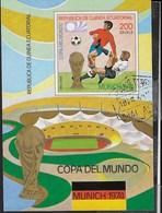 GUINEA EQUATORIALE - 1974 - CAMPIONATO DEL MONDO CALCIO MONACO - ( YVERT BL 77- MICHEL BL 96) - Coppa Del Mondo