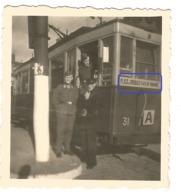 WW2  PHOTO ORIGINALE Soldat Allemand Monte Dans TRAMWAY Ligne A Entre ROUBAIX & TOURCOING Lille  59 NORD - 1939-45