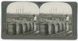 Georgia ~ SAVANNAH BLACK AMERICANA Sealing Rosin Barrels Stereoview 13722 Ve106d - Stereo-Photographie