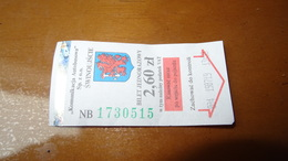 Bus Ticket From Świnoujście Poland - Fahrkarte 2019 - Transportation