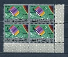 Umm Al Qiwain 1966 Mi # 79 A SPACE Communications Satellites ITU CORNER BLOCK Of 4 MNH - Umm Al-Qiwain