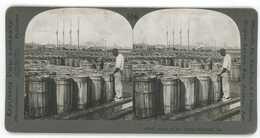 Georgia ~ SAVANNAH BLACK AMERICANA Sealing Rosin Barrels Stereoview 13722 Ve106g - Stereo-Photographie