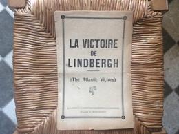LA VICTOIRE De LINDBERGH  *The Atlantic Victory - Partituren