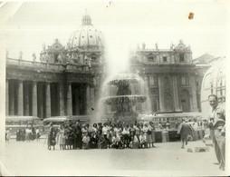 """4823 """" FOTO DI GRUPPO-ROMA S. PIETRO-GIUBILEO ANNO SANTO 1950 """" ORIGINALE - Luoghi"""