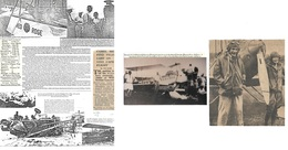 Airmails - World. 1927-33. INDIA - AUSTRALIA - BURMA - HK - MALAY - SINGAPORE. Newspaper Contemporary Notes + History Of - Unclassified