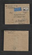 Airmails - World. 1928 (10 Oct) Zeppelin. Germany - USA. Fkd Env 4 Mk + Oval Blue Cachet LZ127. Arrival. Fine. - Unclassified