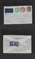 Airmails - World. 1933 (18 July) GERMANY - FRANCE - BRAZIL. Hamburg - Natal Multifkd Env Front + Reverse Via French Airl - Unclassified