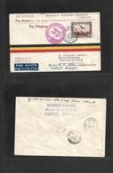 Airmails - World. 1933 (7 Sept) Belgium - SIERRA LEONE (10 Sept) GERMAN SOUTH AMERICA Trop. Fkd 5 Fr Env + Red Cachet. V - Unclassified
