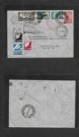 Airmails - World. 1937 (2 June) GERMANY - BRAZIL. 250 Air Flight Comm Connection Multifkd Env German + Brazilian Stamps  - Non Classés