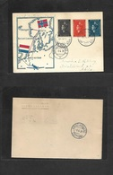 Airmails - World. 1939 (31 May) NORWAY - Netherlands. Special Flight. Multifkd Carad + Illustrated + Transited. - Unclassified