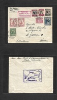 Airmails - World. 1939 (15 July) COLOMBIA - SWITZERLAND. First Transocean Flight. Multifkd Envelope Special Cachet Rever - Unclassified