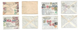 """Airmails - World. 1946-48. COLOMBIA - SWITZERLAND. Registered / Multifkd 4 Mail Usages With The Diff Number Cachets """"1-2 - Unclassified"""