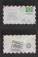 Airmails - World. 1947 (28 Aug) NEW CALEDONIA - WALLIS Island. First French Flight Connection. Fkd Env + Special Cachet. - Unclassified